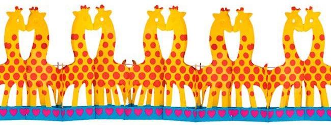 """Motiv-Girlande """"Giraffe"""" 4m -schwer entflammbar"""