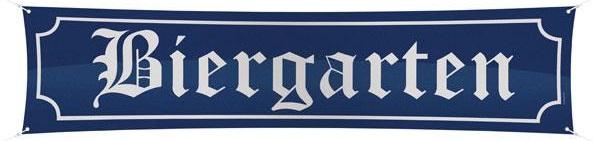 """Stoff-Banner """"Biergarten"""" 180 cm"""