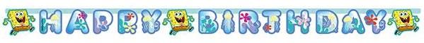 "Happy Birthday-Girlande ""Spongebob Schwammkopf"" 180 cm"
