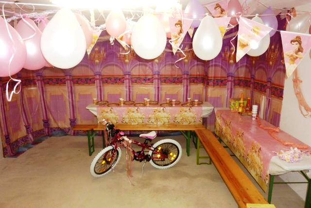 geburtstagsparty einer prinzessin partyfotos unserer kunden. Black Bedroom Furniture Sets. Home Design Ideas